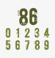 number 0 1 2 3 4 5 6 7 8 9 incomplete digital vector image