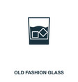 old fashion glass icon line style icon design ui vector image vector image