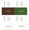 parquet business card 1 vector image