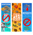 pest control disinfestation banners set vector image vector image