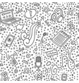 podcast doodle pattern online education vector image