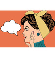pop art cute retro woman in comics style with vector image