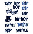 rap battle typing big set music theme logos vector image
