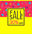 sale banner for online shopping with discount vector image vector image