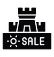 sand castle icon summer sale related vector image vector image