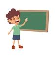 School boy class board vector image