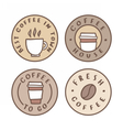 Set of badges Coffee house take away vector image vector image