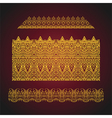 set seamless arabic ornate borders vector image