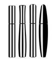 shapes of mascara tubes vector image vector image