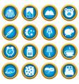 sleep icons blue circle set vector image vector image