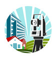 surveying and architecture symbol for business vector image vector image