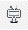 television concept linear icon isolated on vector image