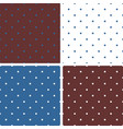tile blue white and brown pattern set with dots vector image