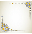 vector flower frame vector image vector image