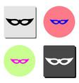 venetian carnival mask flat icon vector image vector image