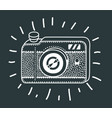 vintage photo camera icon retro concept vector image