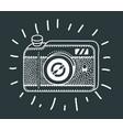 Vintage photo camera icon retro concept