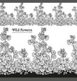 wild flowers field seamless decorative vector image vector image
