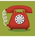 old telephone isolated icon vector image