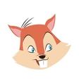 chipmunk nut cartoon icon vector image