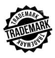 trademark rubber stamp vector image