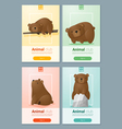 Animal banner with Bears for web design 2 vector image