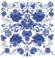 Floral Background in Gzhel Style vector image