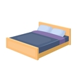 Bed icon in cartoon style isolated on white vector image vector image