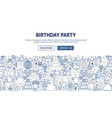 birthday party banner design vector image vector image