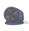 black electric heater with fan radiator appliance vector image vector image