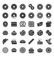bread donut pie bakery product glyph icon set vector image vector image