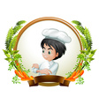 Chef and banner vector image