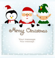 christmas card funny postcard with christmas elf vector image