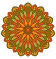 colored ethnic ancient ornament mandala isolated vector image vector image