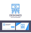 creative business card and logo template atom vector image
