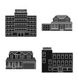design of building and front logo set of vector image