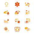 Diabetes icons - JUICY series vector image vector image