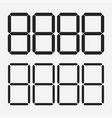 digits display electronic figures the dial vector image