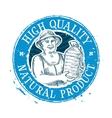 Drinking water logo design template bottle vector image