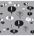 Exclamation Text Signs Gray Pattern vector image