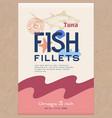 fish fillets abstract fish packaging vector image vector image