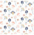 flowers pastel colors seamless pattern vector image vector image