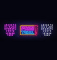 free trial neon text free trial neon sign vector image