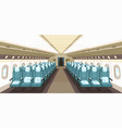 front view airplane interior design with aisle vector image vector image