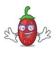 geek goji berries character cartoon vector image