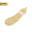 Gold glitter icon of courgette isolated on vector image vector image