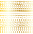 gold ornate borders vector image vector image