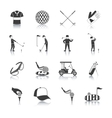Golf Black White Icons Set vector image vector image