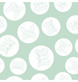 green and white butterflies seamless pattern vector image