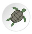 green sea turtle icon circle vector image vector image
